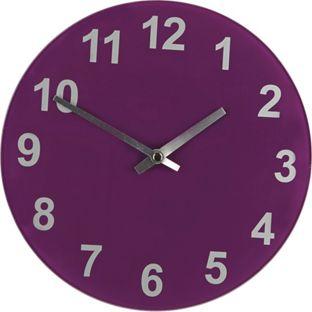 zegar fioletowy